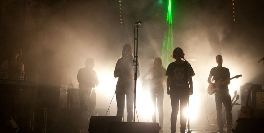 DiscoCrew drive-in show Den Haag laser lichteffect