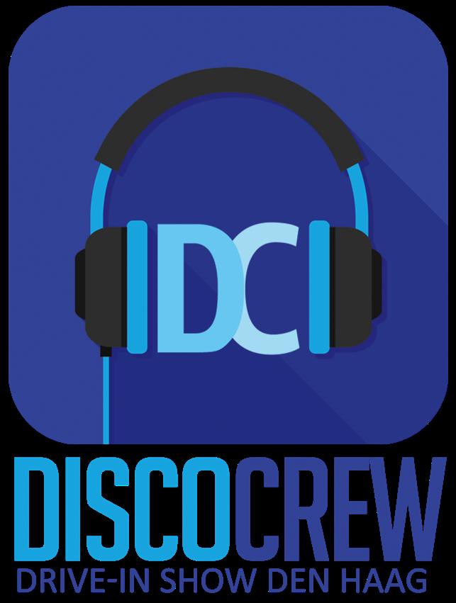 DiscoCrew drive-in show Den Haag licht geluid disco feest dj logo